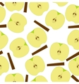 Apple with sinnamon seamless pattern vector image