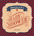 baby shower invitation in retro style vector image