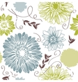 Background with hand drawn flowers seamless vector | Price: 1 Credit (USD $1)