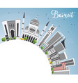 beirut skyline with gray buildings blue sky vector image vector image