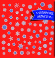big set geometric snowflakes snow background vector image