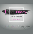 black friday sale banner for advert on web vector image vector image