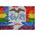 brick wall iowa and gay flags vector image vector image