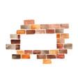 brick wall rectangle frame watercolor vector image