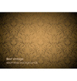 Brown Seamless Floral Background vector image vector image