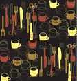 Cafe background vector image vector image
