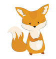 cartoon angry fox stylized cute fox vector image vector image