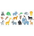 cartoon exotic animal isolated zoo animals bundle vector image vector image