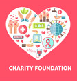 charity and donation help symbols vector image vector image