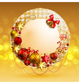 christmas vintage bubble vector image vector image