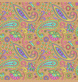 color paisley seamless pattern vector image