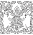 coloring pages for adults seamless henna mehndi vector image