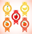 Cute labels for fruit jam vector image vector image