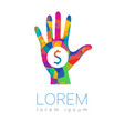 donation sign icon donate money hand charity or vector image vector image