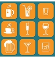 Drinking Icons vector image