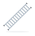 fire ladder escape flat isolated vector image