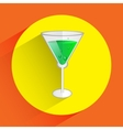 flat detale coctaile icon with green moxito on vector image vector image