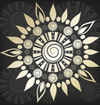 Floral ornament on a black background vector image vector image