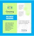 football ground company brochure title page vector image vector image