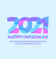 funny greeting card merry christmas 2021 alphabet vector image