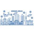 germany berlin winter city skyline merry vector image vector image