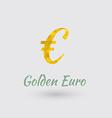 Golden Euro Symbol vector image vector image