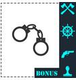 handcuffs icon flat vector image vector image