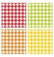 Houndstooth tile pattern or background set vector image vector image