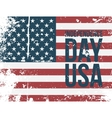 Independence Day USA Text on american Flag vector image vector image