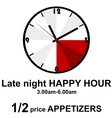 Late night happy hour for pubs vector image vector image