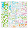 Make Money With Every Visitor In Your Blog text vector image vector image