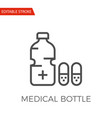 medical bottle icon vector image