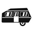 modern camp trailer icon simple style vector image vector image