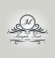 monogram luxury vector image vector image