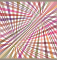 multicolored curved ray burst background vector image vector image