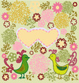 pattern birds in love heart shape vector image