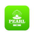 pearl gem icon green vector image vector image