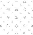 rain icons pattern seamless white background vector image vector image