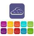 rainy cloud icons set flat vector image vector image