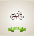 realistic cruise bicycle element vector image