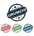 Round Urumchi city stamp set vector image vector image