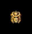 samurai warrior mascot logo vector image vector image