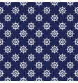 seamless nautical pattern with steering wheels vector image vector image