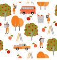 seamless texture harvest time vector image