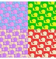 snail and elephant pattern vector image