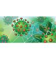 stock banner with symbol coronavirus vector image vector image