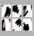 textured brush background black ink japanese vector image vector image