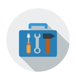 Tool box single icon vector image vector image