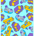 toy transport cartoon style pattern seamless car vector image vector image