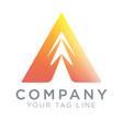 triangular logo template symbol spirit vector image vector image